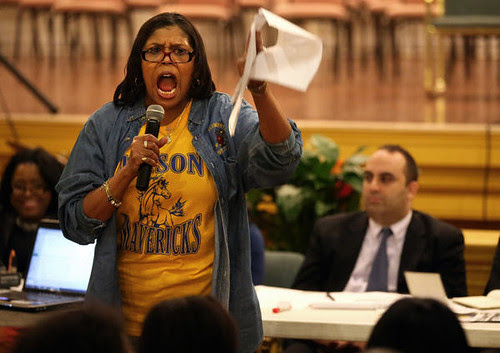 A Chicago teacher speaks out against massive school closings in the city. The attacks on public education are part of a broader set of austerity measures being carried out against cities across the United States. by Pan-African News Wire File Photos
