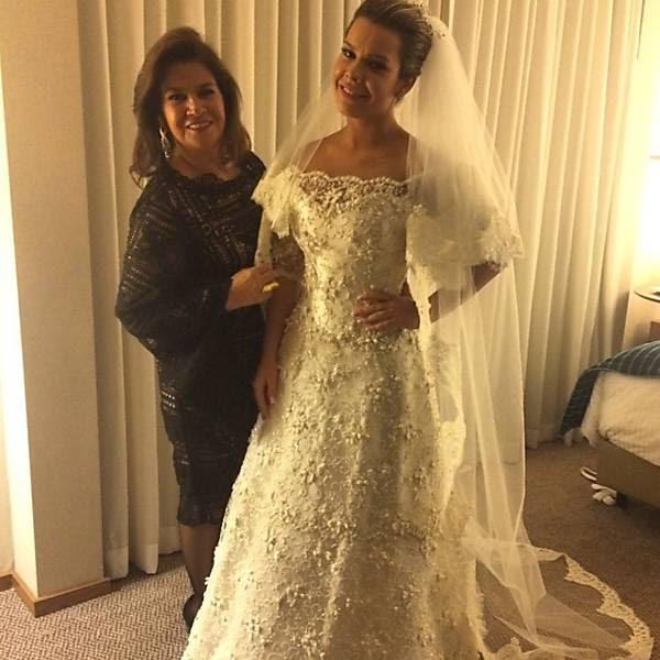 A estilista Martha Medeiros com a atriz Fernanda Souza