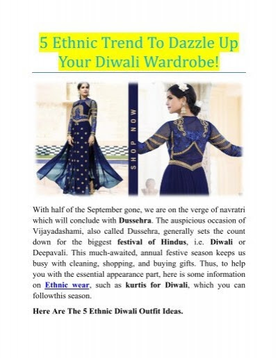 5 Ethnic Trend To Dazzle Up Your Diwali Wardrobe