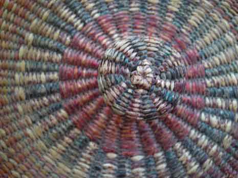 Texture woven into a circular layered pattern