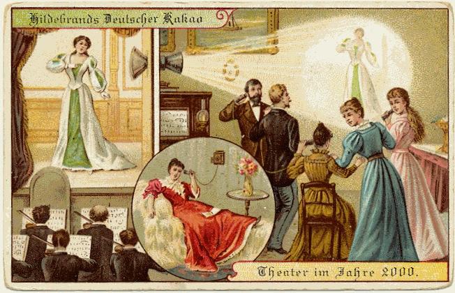 carte postale 2000 futur 04 En 1900, des cartes postales imaginent lan 2000  histoire featured design