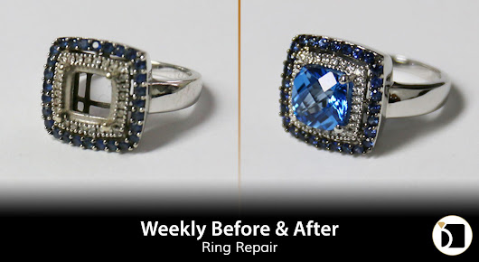 Weekly Before & After #96 - Sapphire Ring Stone Replacement