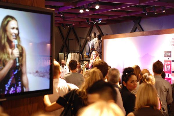 Natalie Gruzlewski, ESPRIT Icon store launch Sydney