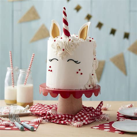 Unicorn Head Cake   Peppermint Cake   Wilton
