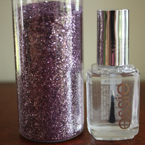 glitter and top coat