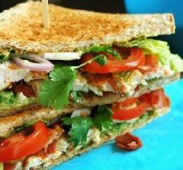 طريقة عمل  ساندويتش الدجاج - اكل دوت نت