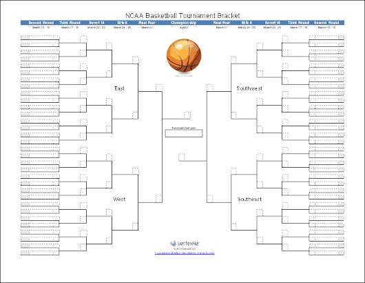 2015 March Madness Bracket for Excel