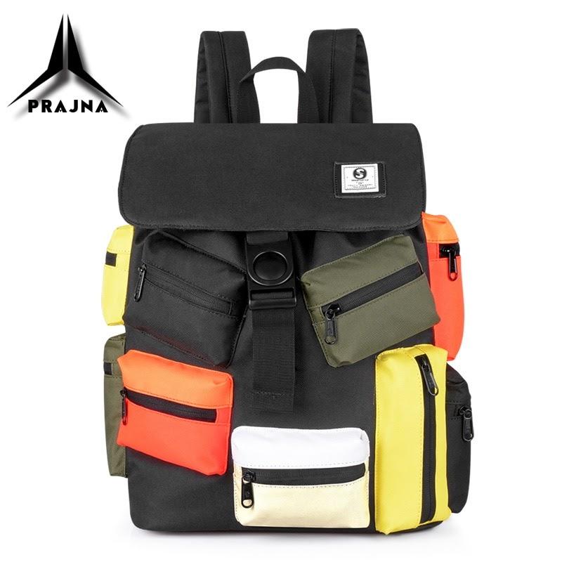 Sale New Men Backpack School Bags Multi-pocket Design USB Charging 15.6 Inch Laptop Bag Large Capacity Waterproof Travel Bag For Male