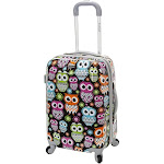 Rockland JR B02-OWL Owl Printed Polycarbonate Carry On Luggage