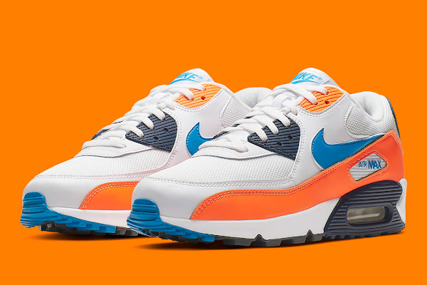 best cheap f5ab6 6fb49 The Nike Air Max 90 Releases In A Vintage Friendly Blue And Orange