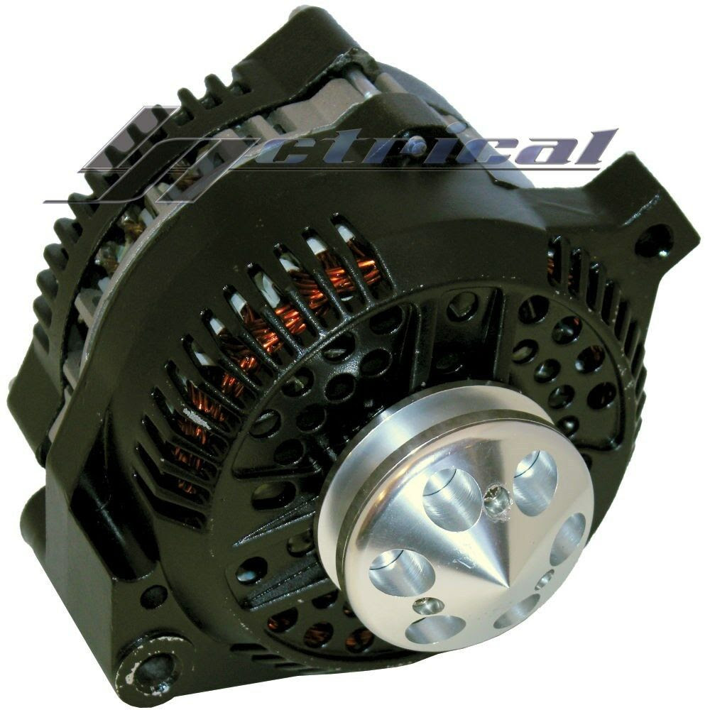 NEW ALTERNATOR FORD MUSTANG,BLACK W/BILLET PULLEY,1 ONE ...