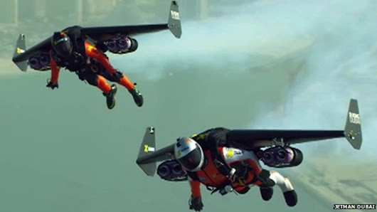 'Jetmen' fly over Dubai and other technology news - BBC News