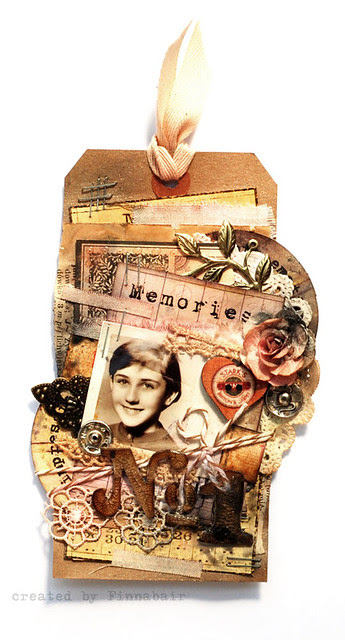 Tag - Sizzix, Tim Holtz and 7 Dots Studio