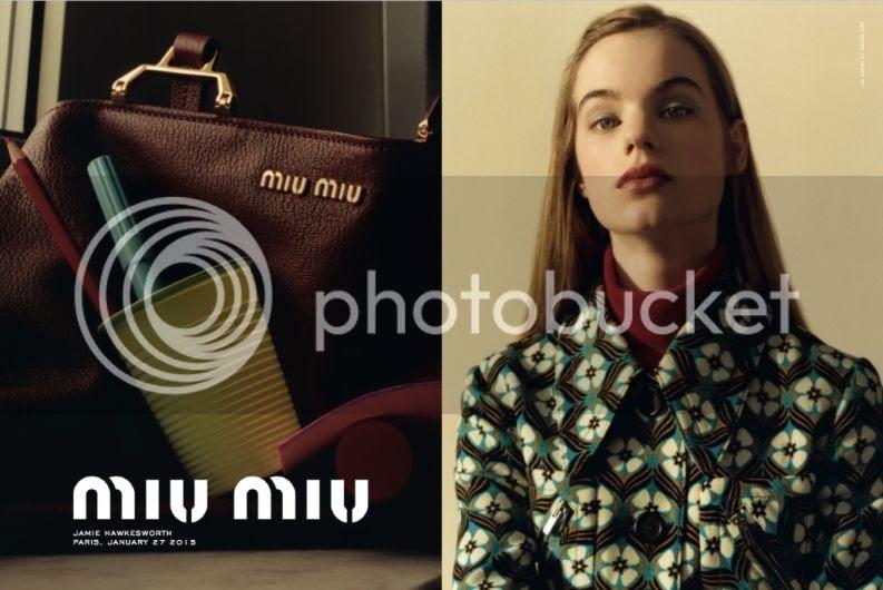 Miu Miu prefall 2015 campaign