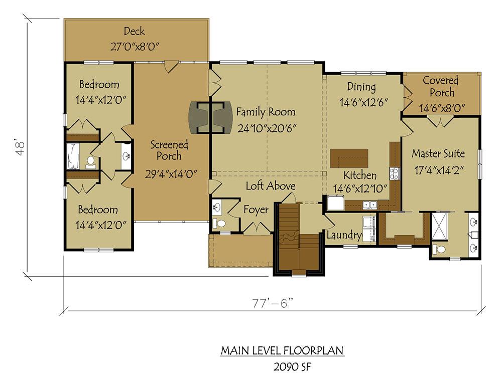 Dogtrot House Plan  Large breathtaking Dog Trot style floor plan