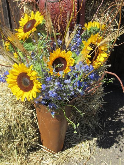 Rustic Western Flower Arrangement   Floral Creations by