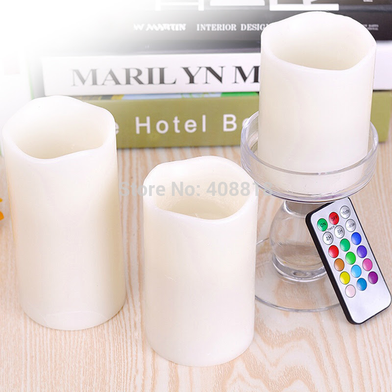 Lampu Lilin Remote Control Candle Light isi 3pcs Christmas