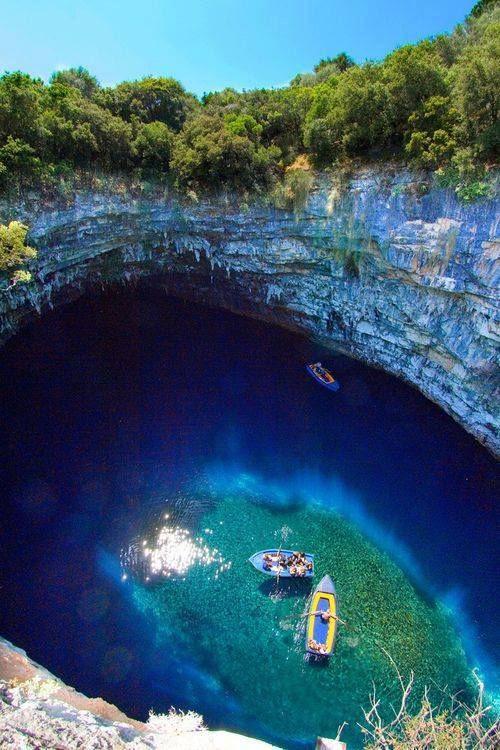 Melissani Cave looks amazing!