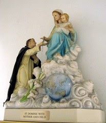 Saint Dominic with Mother and Child