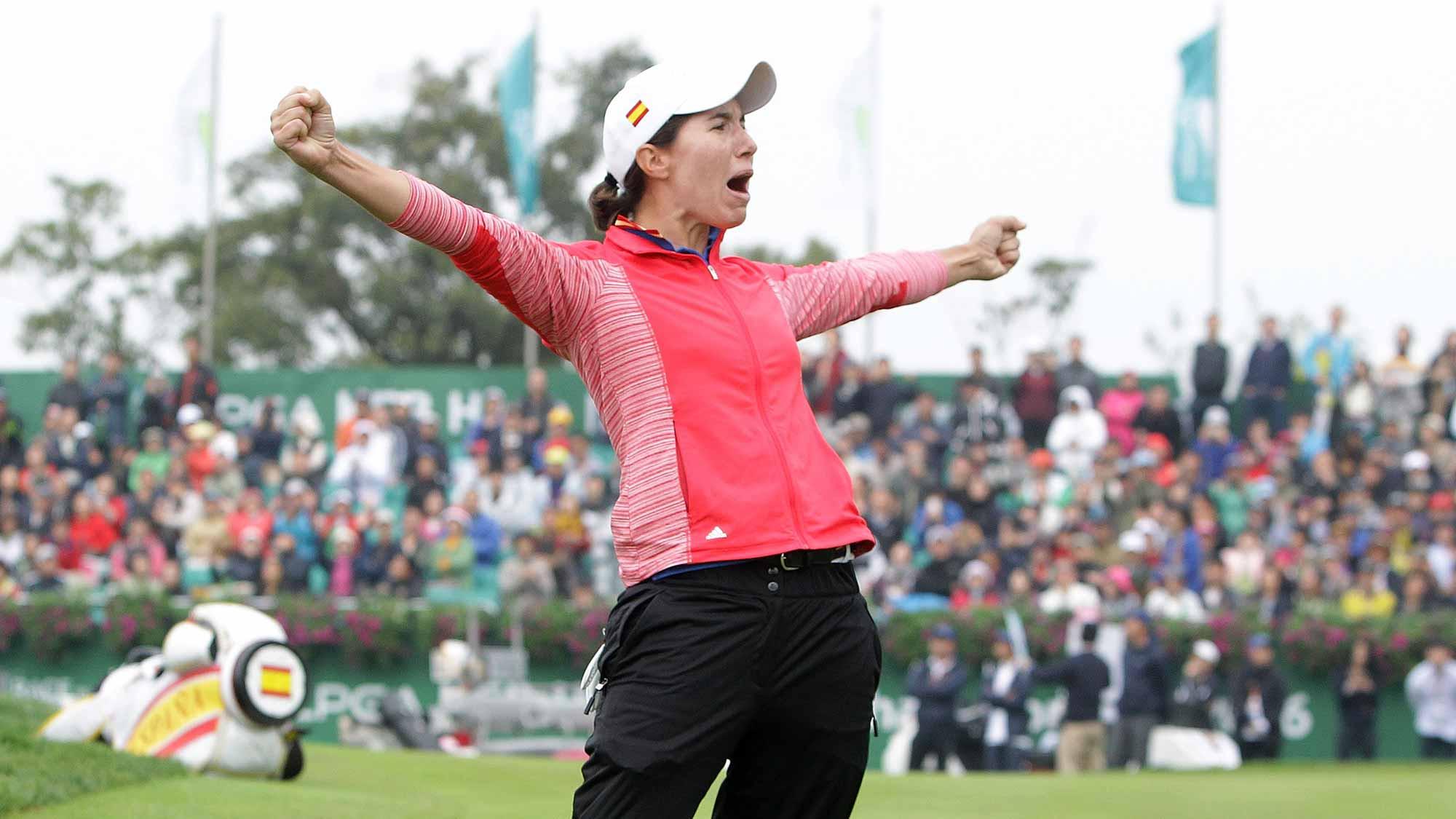 Defending champion Carlota Ciganda