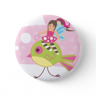 Pink Fairy Button button