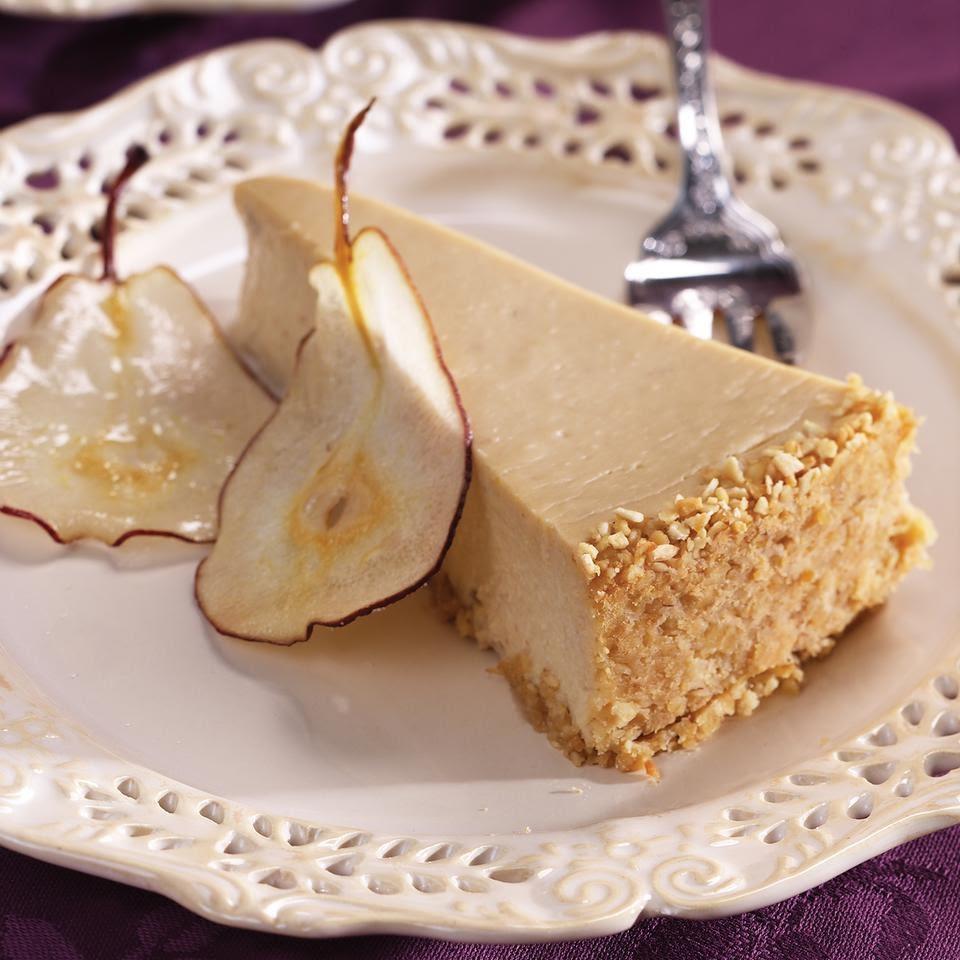 Pear & Ginger Cheesecake Recipe - EatingWell