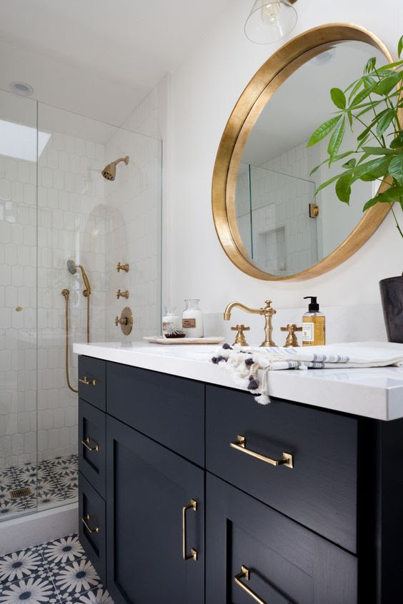 50 Bathroom Ideas With Gold Touches - Decoholic