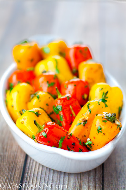 Marinated Bell Peppers - Olgas Cooking