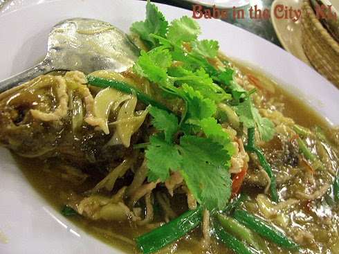 GOD - D15 Braised Ma Yau with harm choy and pork strips RM18 (price seasonal)