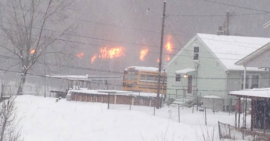 Oil train explodes in West Virginia