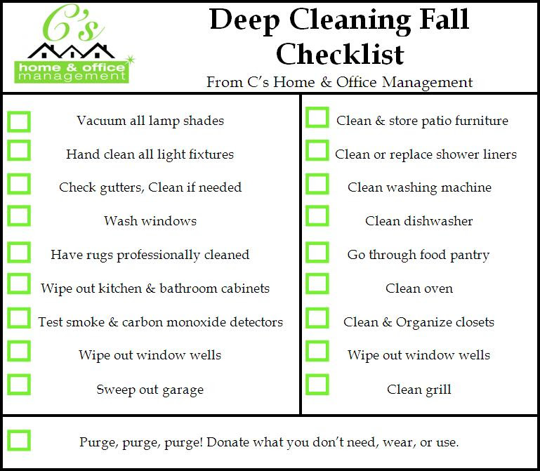 Fall House Cleaning Checklist From C's ::