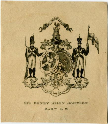 Sir Henry Alllen Johnson Bart. K.W.