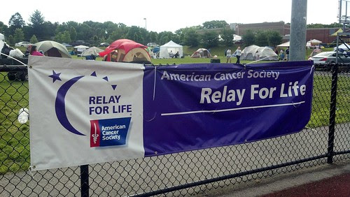 Franklin - Relay for Life: banner and tents