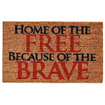 """Home & More 121281729 Home Of The Free Doormat, 17"""" X 29"""" X 0.60"""", Multicolor"""
