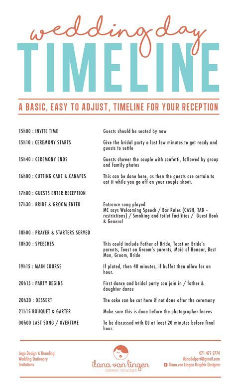Wedding Day Timeline   Wedding Ideas