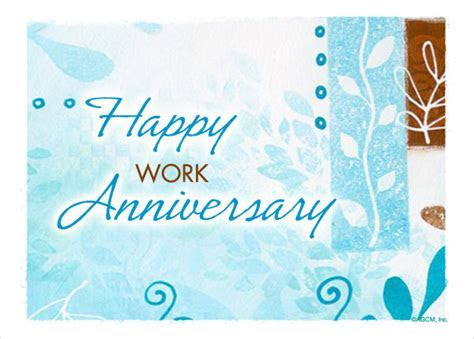 9  Work Anniversary Cards   Free Sample, Example, Format