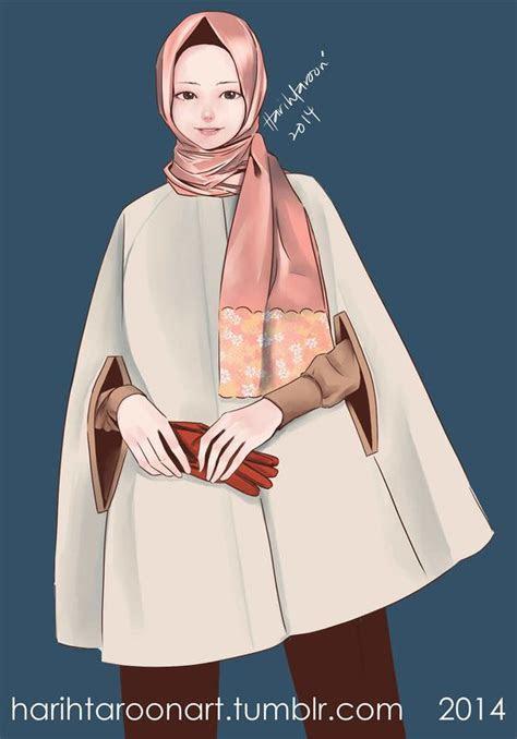 gambar kartun muslimah tercantik  manis hd kuliah