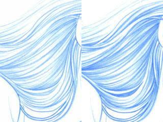三色での描き方 色鉛筆3色絵師の落描き帳