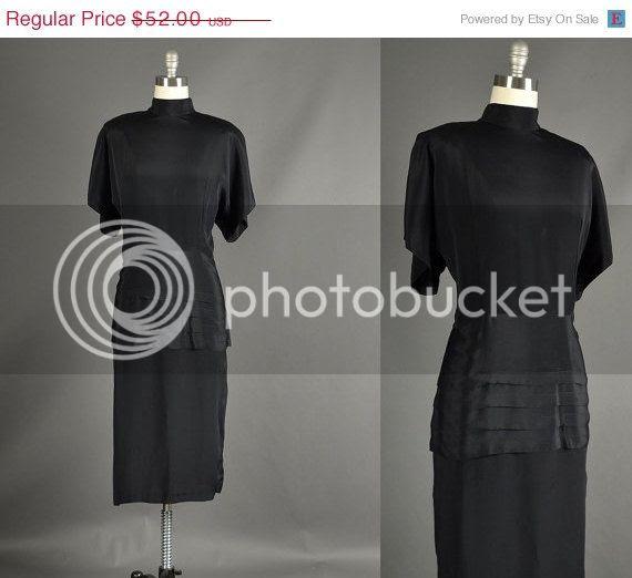vintage plus size 80s does 40s dress