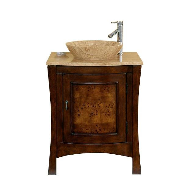 Silkroad 26 Modern Single Sink Bathroom Vanity