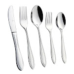 Royal Silverware Stainless Steel Utensils, Polished Cutlery Flatware Set 60-piece