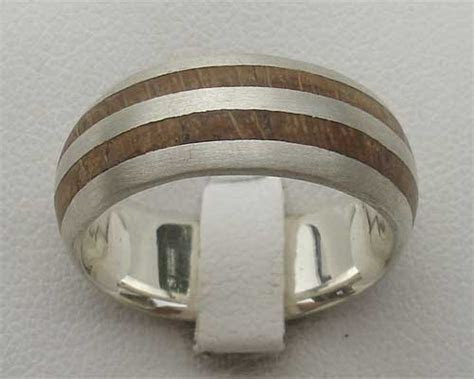 Men's Silver & Wooden Wedding Ring : LOVE2HAVE in the UK!
