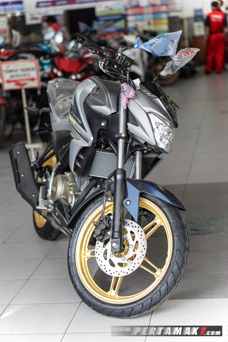 Modifikasi Yamaha All New Vixion 150 Cc Velg Cat Warna Emas
