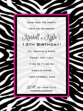 1000+ images about Party invitation ideas on Pinterest | Zebra ...
