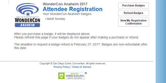 WonderCon 2017 Badge Sale Offers New Functionality, Possible Insight Into SDCC 2017
