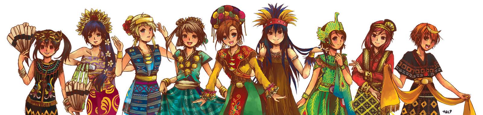 Love Live!  Indonesia Traditional Dances by SmartChocoBear on DeviantArt
