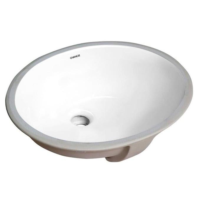 Casainc Vanity Sink White Porcelain Undermount Round Trough Bathroom Sink 16 In X 13 In In The Bathroom Sinks Department At Lowes Com