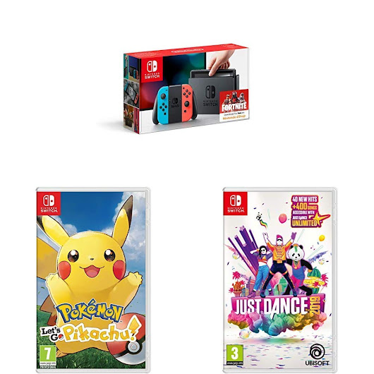 Amazon UK: Early Black Friday Deals Includes Nintendo Switch, Pokemon: Let's Go And Just Dance 2019 For £299.99 | My Nintendo News