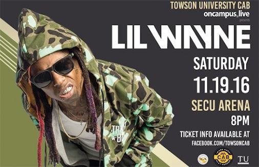 Lil Wayne To Headline Towson University's 2016 Fall Fest In Maryland - http://www.lilwaynehq.com/2016...