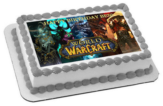 WORLD OF WARCRAFT Edible Birthday Cake Topper OR Cupcake Topper, Decor